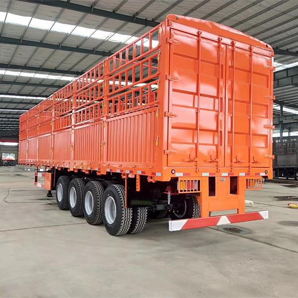 100tons Fence Cargo Trailer